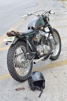 Honda Scrambler...love the green on this one.