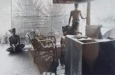 Walter Spies' living room and painting desk at Campuan, Bali, in 1936 (courtesy of Agung Rai Museum of Art)