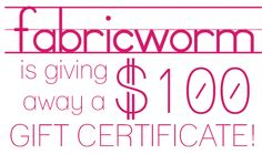 Celebrating 50,000 Facebook Fans With A Giveaway! - FabricWorm