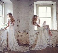 New Ivory White Lace Bridal Gown Wedding Dress Custom Size 2 4 6 8 10 12 14 16++ in Clothing, Shoes & Accessories, Wedding & Formal Occasion, Wedding Dresses | eBay