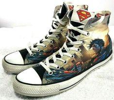 fe4eb9fc2836 DC Comics Converse All Star Chuck Taylor Superman Sneakers Men Size Us 12
