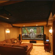 Awesome TV room.