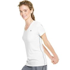 Women's Champion PowerTrain Performance Tee, Size: Small, White