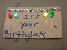 Birthday card made on our handmade paper by Christine j.