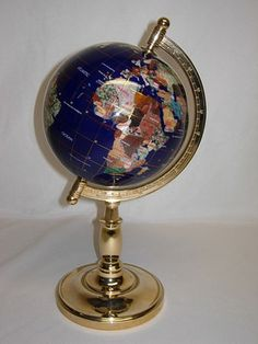 42 best gemstone world globes images on pinterest globes gems and 12 5 gemstone world map globe with gold plated single stand gumiabroncs Image collections
