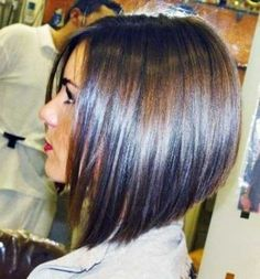 50 Best Long Angled Bob Hairstyles To Summer 2018 Angled Bob Haircuts Long Angled Bob Hairstyles, Graduated Bob Hairstyles, Graduated Haircut, Edgy Bob Haircuts, Long Haircuts, Layered Haircuts, Hair Styles 2014, Medium Hair Styles, Short Hair Styles