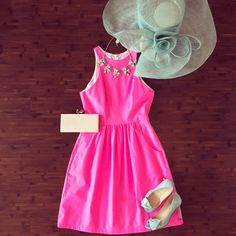 Hot pink for a hot Derby date!  #ootd #shopmonkees #monkeesoflou