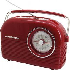 Soundmaster DAB450 nostalgische DAB radio rood  Soundmaster DAB450 nostalgische DAB radio rood  Alsof ze rechtstreeks uit de jaren '50 komt deze Soundmaster DAB450RO DAB radio. Qua uiterlijk komt dit zeker overeen maar van binnen is de DAB450 helemaal modern! Dankzij de DAB ontvangt u de hoogste kwaliteit digitale radio. Ook kunt u er een hoofdtelefoon op aan sluiten om zo ongestoord naar uw muziek te luisteren. Deze radio kan tevens fungeren als wekker. En omdat ze ook werkt op batterijen…
