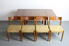 1960's Danish Brdr. Furbo Teak Danish Dining Set w/ by ABTModern, $2250.00 - This is a RARE 1960's mid century modern Brdr. Furbo of Denmark Teak Expandable Dining Table. This fabulous table is in good condition.