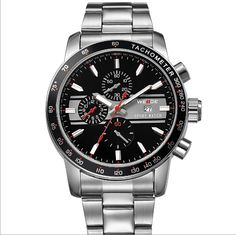 Free Shipping New Waterproof sports watch, Stainless steel, Original Japan Miyota 2115 Quartz