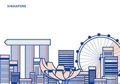 Singapore Skyline made for SG50