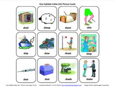 Free initial /sh/ picture cards....more sound sets available : )