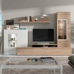 Muebles de salón con vitrinas
