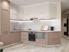 Современная кухня с встроенной техникой. Кухня изготовлена из экологически чистых материалов.и выполнена в стиле минимализма: чистота линий и форм.