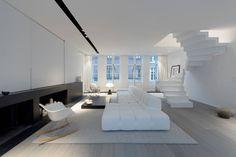 Moderne woonkamers van mayelle architecture intérieur design