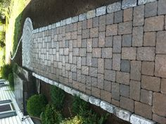 Pavers walkway w/cobble stone border by Araujo Landscaping,Inc.