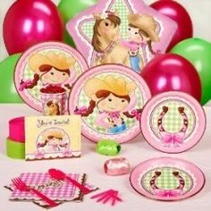 Pink cowgirl party pack for 16-it fits right into a Sheriff Callie theme!