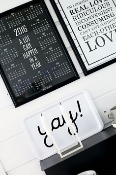 SCANDINAVIAN KITCHEN DECOR / STYLE! 2016 minimalistic and modern year calendar + Sex And The City print / poster with beautiful love quote. Buy both of them at http://EPICDESIGNSHOP.com