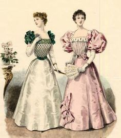 The Barrington House: 1895 fashion plate