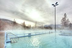 Largest natural mineral hot springs in Canada #FairmontHotSpringsResort #hotsprings #hotpools #publicpools #destinationbc #tourismbc #BritishColumbia #naturalhotsprings