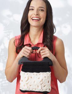 Yarnspirations.com - Lily Graphic Motif Bag - Patterns  | Yarnspirations