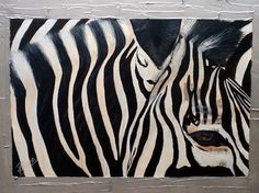 """Desta"" means "" Joy"" Zebra acrylic & texture on canvas  SOLD (www.artonpartridge.wix.com/artist) Animal Paintings, Art Work, Original Artwork, Joy, Texture, Canvas, Artist, Animals, Artwork"