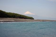 Mt. Fuji as seen from Miho Beach in Shimizu (Shizuoka Prefecture).