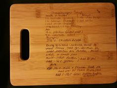 Custom engraved cutting board for Taylor from 3DCarving on Etsy