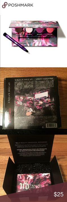 """Urban decay """"urban addictions"""" pallet Received as a beauty insiders 500 pt reward. New in box. Never opened or swiped. Will come in original packaging- makes a great gift ! Comes with 4 colors, a brush, and on the back the eyeshadow primer Urban Decay Makeup Eyeshadow"""