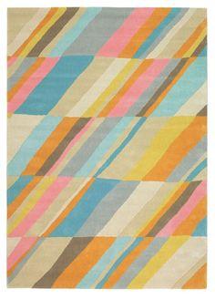 Serendipity Contemporary Handmade Moderno Diagonal 73307 Multi Rug | Contemporary Rugs