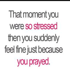 The power of prayer......what a beautiful gift from our GOD Jehovah!!!!