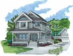 Victorian House Plan with 2219 Square Feet and 4 Bedrooms(s) from Dream Home Source | House Plan Code DHSW04056