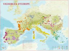 Wine map of Europe