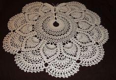 crocheted tree skirt   doilydesigns