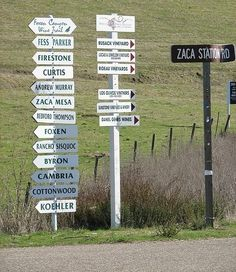 Winery signs point the way in Los Olivos ... cheers!