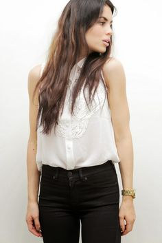 lace top and waxed jeans  http://jutta-onmyway.blogspot.fi/2014/12/vahapintaa.html