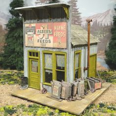 O Scale On30 On3 Alber's Feed & Seed Store Building
