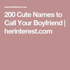 names couples call each other