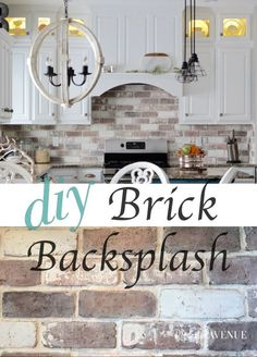"""Do-It-Your self Brick Veneer Backsplash - Remington Avenue. >> Check out more by.> Check out more by…""""> Do-It-Your self Brick Veneer Backsplash – Remington Avenue. >> Check out more by visiting the image Cuisines Diy, Cuisines Design, Studio Beauty, Kitchen Ikea, Kitchen White, Kitchen Cabinets, Gray Cabinets, Kitchen Counters, Kitchen Cupboard"""