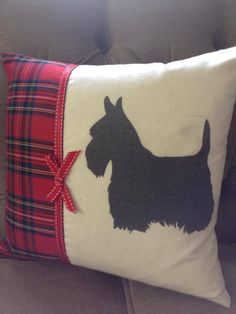 Scottie Dog printed cushion - The Supermums Craft Fair