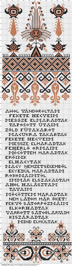 Kamaz népcsoport - Antal László saját gyűjtésű mintája. Falvédő minta, 1970-es évek, Pest megye
