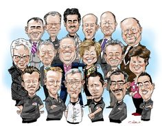 groepskarikatuur By Christel Schols, sneltekenaar.nl