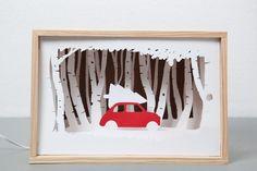 DIY paper diorama – Famous Last Words Shadow Box Kunst, Shadow Box Art, Kirigami, Cut Out Art, Papier Diy, Paper Crafts, Diy Crafts, 3d Paper Art, Foam Crafts