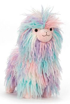 The Jellycat Lovely Llama is full of colour and style! Buy Jellycat Lovely Llama at Miss n Master for Australia's best price and worldwide shipping. Bird Life Cycle, Play Horse, Llama Stuffed Animal, Creepy Animals, Duck Toy, Jellycat, All Things Cute, Rainbow Unicorn, Pet Toys