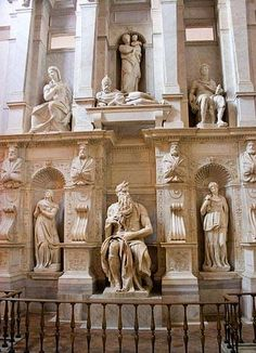Michelangelo's Moses at the Basilica of St Peter in Chains, Rome
