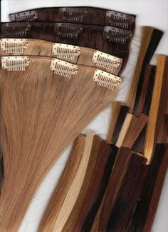 """14"""" Silky Straight 100% Human Hair Clip On In Extensions 10 Piece Set Color 4 Medium Dark Brown by Aramas. $54.99. 100% Human Hair Clip In Extensions. 14"""" Silky Straight. Ready To Wear, Clips in a few minutes. For any Occasion or Everyday Use. 100% Human Hair Clip In Extensions, 14"""" Length, Full Set (10 Pieces), Silky Straight ,  Clip in takes just a few minutes, Fast and quick way to get longer, fuller hair for any occasion, or everyday use.  You can hardly feel the clips ..."""