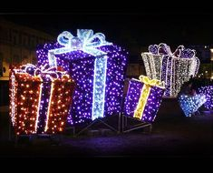 Wholesale Christmas Decorations Lighted Giftboxes