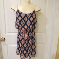50% OFF ONE DAY SALE GOING ON NOW!!   Sixty Triangles Sun Dress Multi Color Size Small SUPER CUTE!! #SixtyTriangles #SunDress #Casual