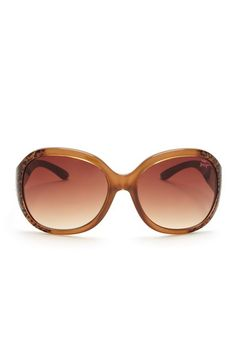 Betsey Johnson  Women's Round Ombre Animal Print Sunglasses  X