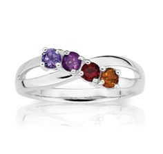 Silver Mothers Ring – The 4 Stones, Emily Mothers Ring